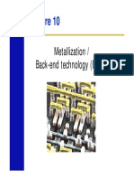 Metallization, Back-end technology (BEOL)