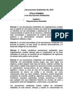 Ley de Asociaciones Solidaristas No 6970