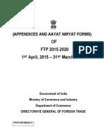 Appendices and Aayat Niryat Forms