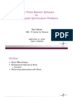 Elmer Finite Element Software for Multiphysical Optimization Problems