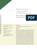 Leibhold&Tobin 2008 Population of Invasive species