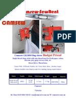 Catalogue Cam Sew g k 1800 Bag Closer