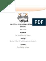 Ejercicios de Taller de Etica Unidad 1