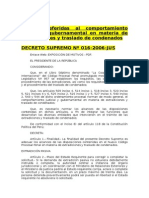 61 Cooperación Judicial Internacional Extradición Reglamento Ds.016-2006-Jus Spij 2015