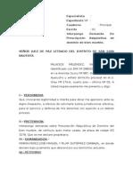 Demanda de Prescripcion Adquisitiva de Dominio.