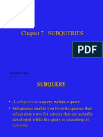 Chapter Subqueries important