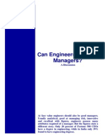 Can Engineers Be Good Managers