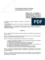 Informações Iniciação Científica Mauá - Resolução Normativa (RN-17-2015)
