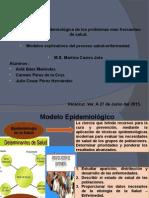 Modelos explicativos del proceso salud-enfermedad.