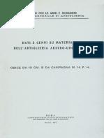 Dati e cenni su materiali dell'Artiglieria Austro-Ungarica - Obice da 10 Cm. B Campagna M.14 F.H.