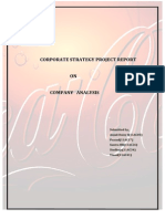 Corporate Strategy Project Report