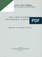 Dati e cenni su materiali dell'Artiglieria Austro-Ungarica - Obice da 7,5 A Mont. M.15 G.K.