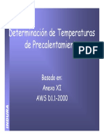 Precalentamiento AWS D.1. 1. INDURA
