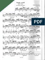 Bach Bwv 1020 - Guitar T. Hopptock