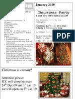 January 2010 newsletter (English