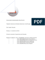 Trabalho Sistema de Gestão Ambiental e Certificação Poluição Global (1)