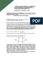 Examen de oposiciones de Matemáticas (Secundaria) Castilla y León 2002