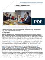 Outraspalavras.net-A Grécia Põe Na Mesa a Carta Da Democracia