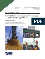 Drilled Shafts Construction Procedures