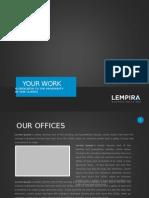 Lempira PPT - Blue design