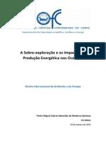 A Sobre-exploração e os Impactos da  Produção Energética nos Oceanos