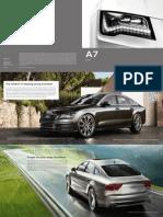 Audi A7 2013 Misc Documents-Brochure