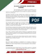 Cardenales en El Exterior Duodécima Semana 2015