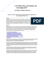 Periodismo de Filtración, Periodismo de Investigación