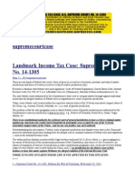 6-9-15_landmark Income Tax Case_u.s. Supreme Court No._ 14-1305
