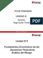 Tópicos de Finanzas Unidad 3 Análisis de Riesgo