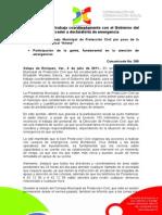 04-07-2011 Ayuntamiento trabaja coordinadamente con el Gobierno del Estado para acceder a declaratoria de emergencia. C368