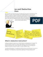 differences between Inductive and Deductive Instruction