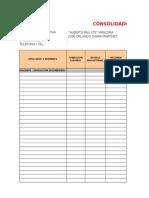 Consolidado de Asistencia Mes de Junio 2015