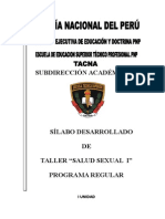 SILABO Educacion Sexual