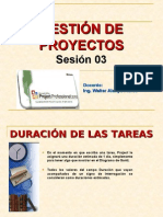 BASE TEORICA DE MS PROJECT SESION 03