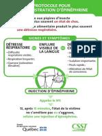 Protocole d'Administration de l'Épinéphrine