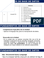 Fundamentos de BD-U6 Lenguaje SQL