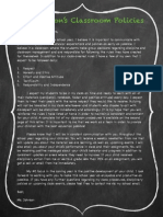 classroom policies letter