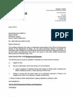 Deputy Steckman Termination Letter