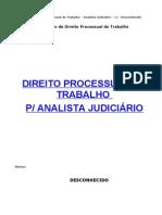 Direito Trabalho - 04 - Resumo - Apostila TRT - Processo