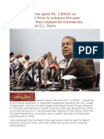 Rajapaksa Regime Spent Rs. 2 Billion on International PR Firms to Enhance the Poor Reputation That They Created for Themselves. Mangala Reply to G.L. Peiris