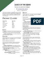 5e Houserule Psionic Classes