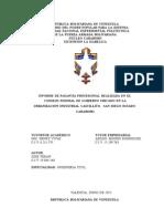 Inspeccion y Control de Proyectos. Consejo Federal de Gobierno
