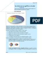 Presentar los datos en un gráfico circular