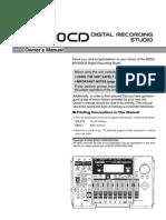 BR-900CD owner manual