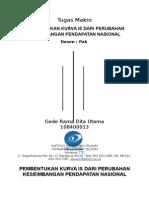 Pembentukan Kurva is Dari Perubahan Keseimbangan Pendapatan Nasional