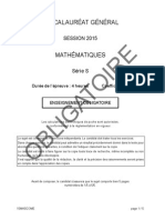 Maths Bac s 2015