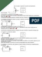 Exercícios Capacitores, Indutores Corrente Contínua e Alternada