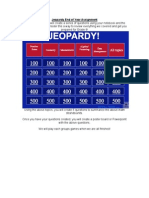 jeopardy end of year assignment