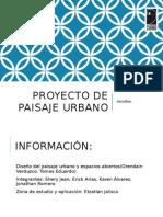 Proyecto de Paisaje Urbano Etzatlan